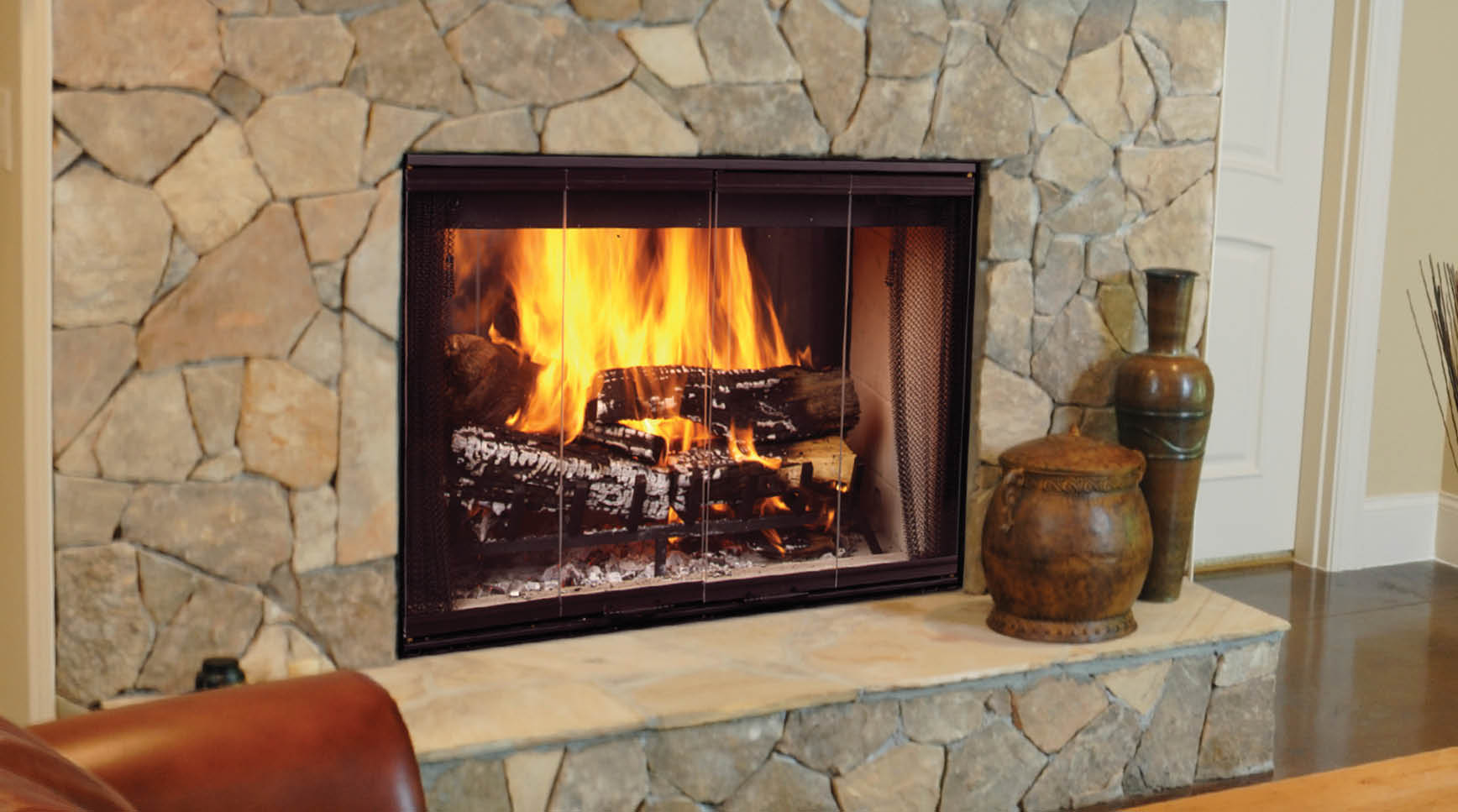 how to use gas fireplace with wood